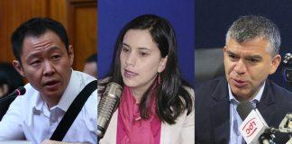 Kenji Fujimori (Foto: Congreso) - Verónika Mendoza - Julio Guzmán - Ideeleradio