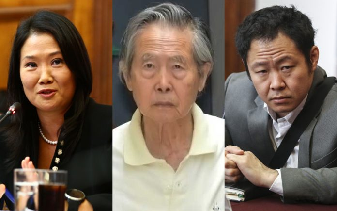 Keiko Fujimori - Alberto Fujimori - Kenji Fujimori - Foto: Congreso - Poder Judicial