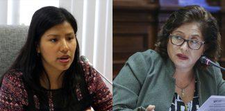 Indira Huilca - Sonia Echevarría - Foto: Congreso