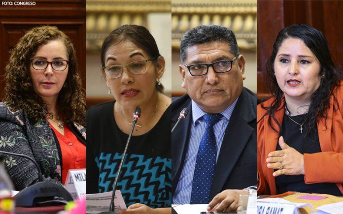 Rosa Bartra - Milagros Salazar - Mario Mantilla - Tamar Arimborgo - Foto: Congreso