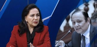 Gloria Montenegro - Walter Gutiérrez (Foto: Congreso)