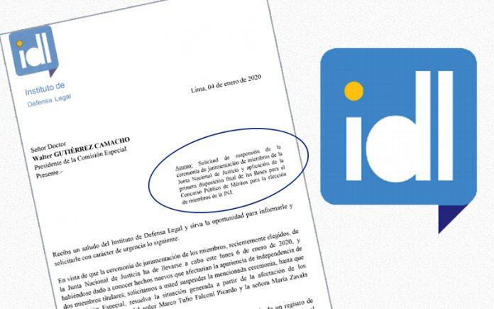 IDL pide suspender juramentación de la Junta Nacional de Justicia