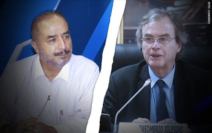 José Luis Pérez Guadalupe - Carlos Basombrío (Foto: Congreso)